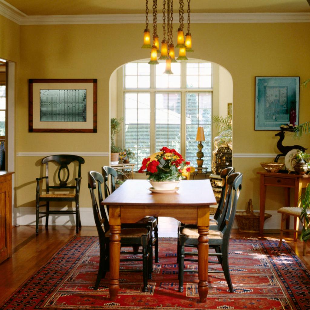 Дизайн столовой в частном доме своими руками